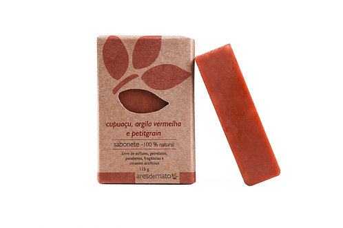Sabonete cupuaçu, petitgrain e argila vermelha - Ares de Mato 115g