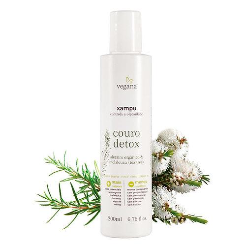 Shampoo couro detox tea tree - Vegana 200ml