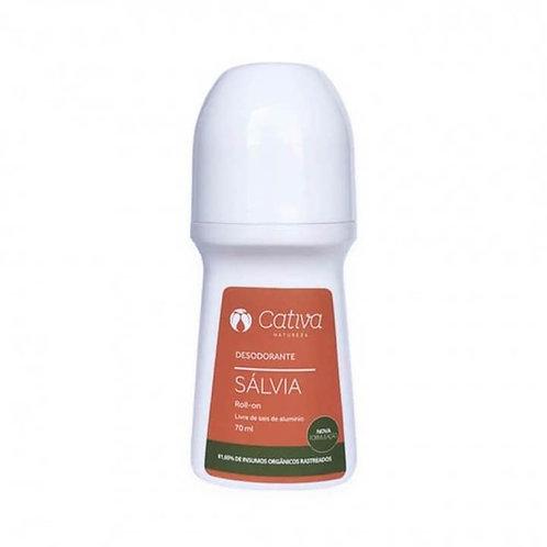 Desodorante rollon sálvia - Cativa 70ml