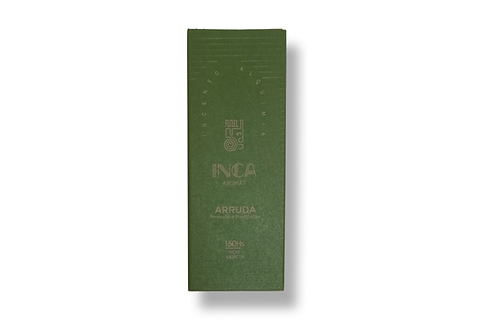 Incenso arruda terapêutico 9 varetas - Inca Aromas