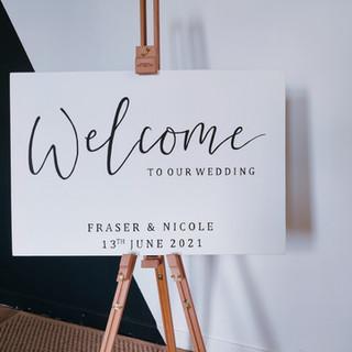 Hand painted wedding board
