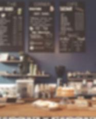 cafe menu | hand lettering