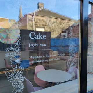 Hand painted shop window