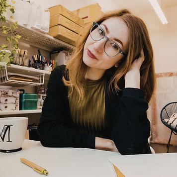 Megan in her studio