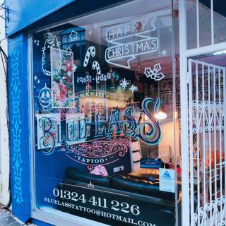 Handdrawn - shop christmas windows - Porter & Bramble