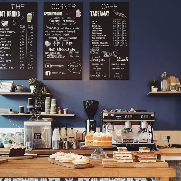 Handlettered cafe menus