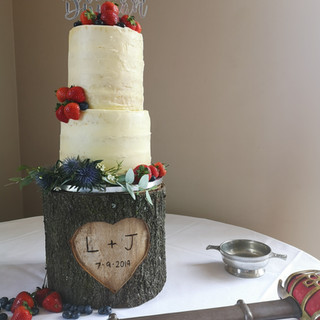 Hand made cake stand