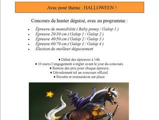 Concours interne pour HALLOWEEN le 12 novembre à 14h00