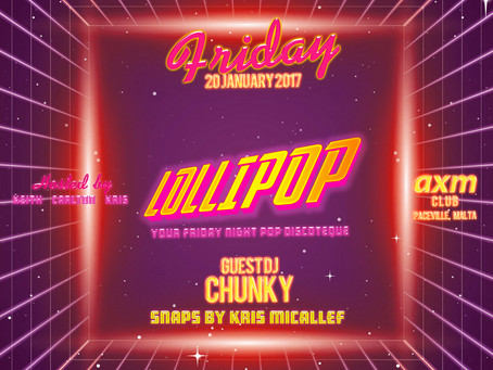 LOLLIPOP - January's Friday Night Pop Discotheque!