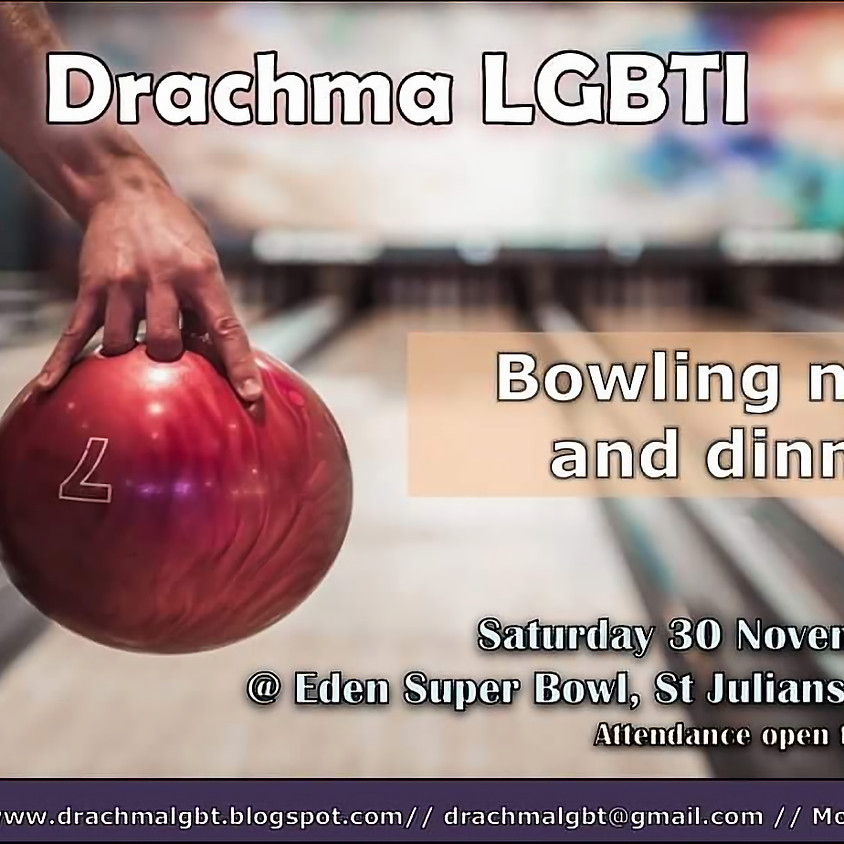 Drachma group bowling and dinner