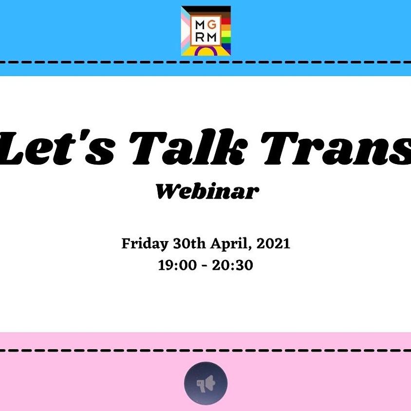 Let's Talk Trans   Webinar