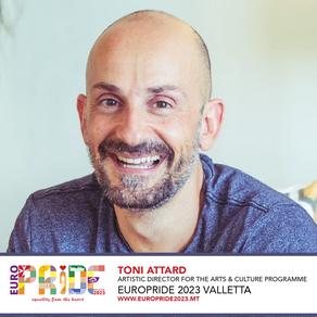 Toni Attard appointed Artistic Director of EuroPride Valletta 2023