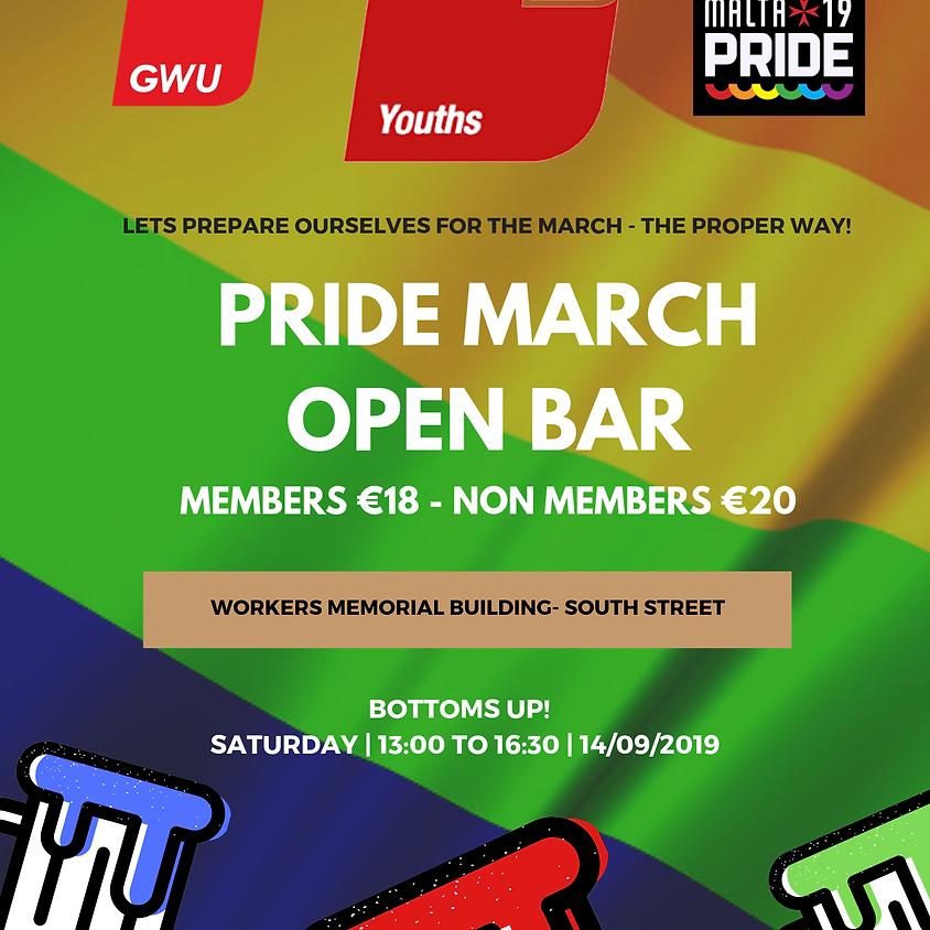 GWU PRIDE MARCH OPEN BAR