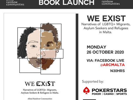 """Virtual Book Launch by ARC: """"We Exist: Narratives of LGBTQ+ Migrants, Asylum Seekers and Refugees"""