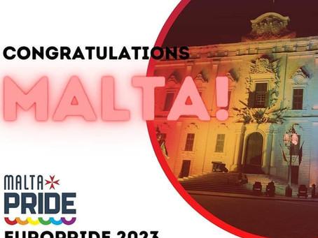ARC wins bid to host EuroPride in Valletta in 2023!