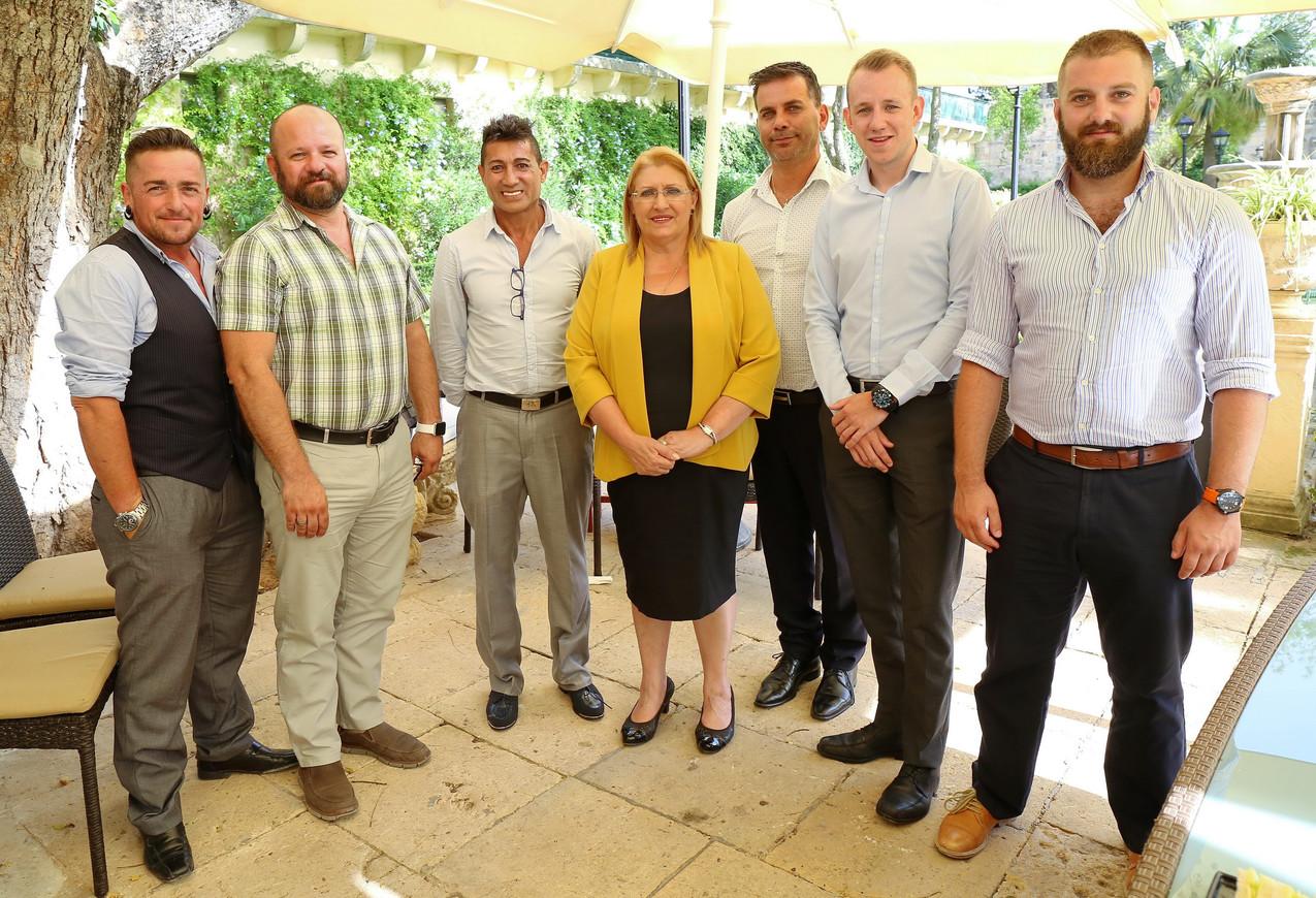Members of Pride Malta Organising Committee 2016 meeting the President of Malta