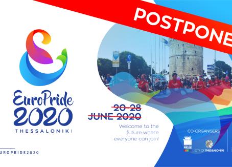 EuroPride 2020 Postponed!