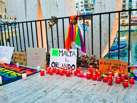 Malta holds a Vigil for Orlando