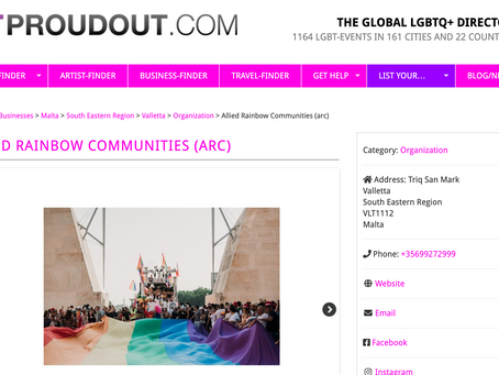 ARC is listed on PROUDOUT.COM