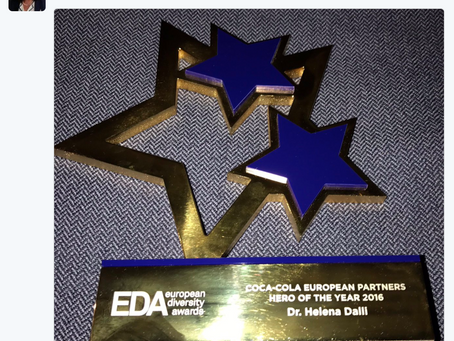 Congratulations Hon Helena Dalli - European Diversity Awards Hero of the Year 2016