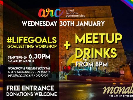 GoalSetting Workshop followed by MeetUp