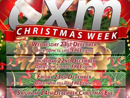 AXM Christmas Schedule!