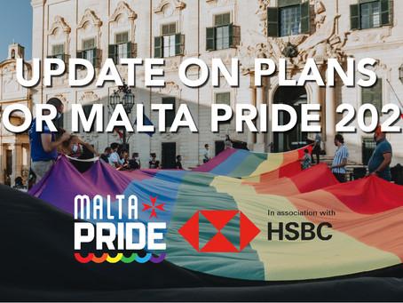 Update on Plans for Malta Pride Week: 10th – 19th September 2021