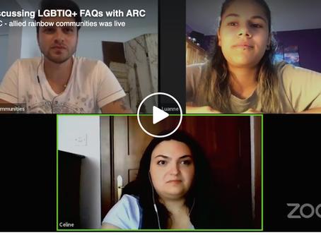Discussing LGBTIQ+ FAQs with ARC
