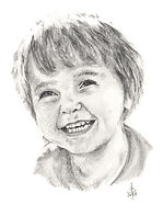 Pencil Portrait - Child - Hand Drawn By Bill Taylor-Beales .