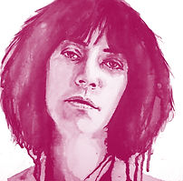 Ink Portrait - Patti Smith - Hand Drawn By Bill Taylor-Beales .