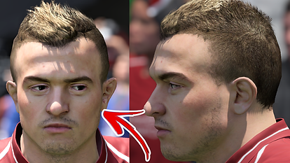 SHAQIRI FACE UPDATE FIFA 19! (Mod showca