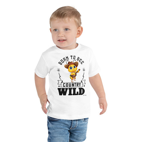 Born to Bee Country Wild Toddler Short Sleeve Tee