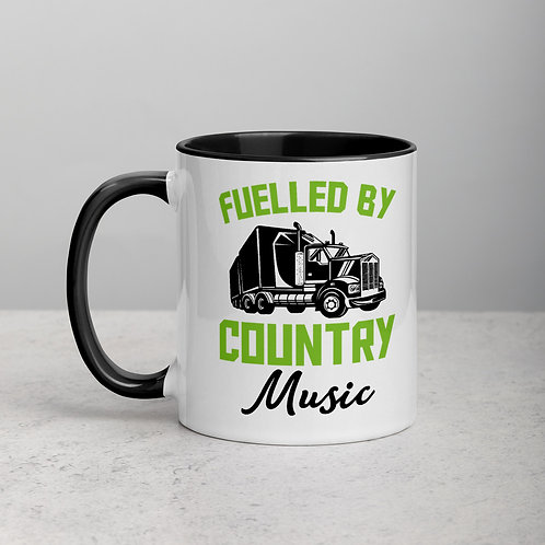 Fuelled By Country Music Mug with Color Inside