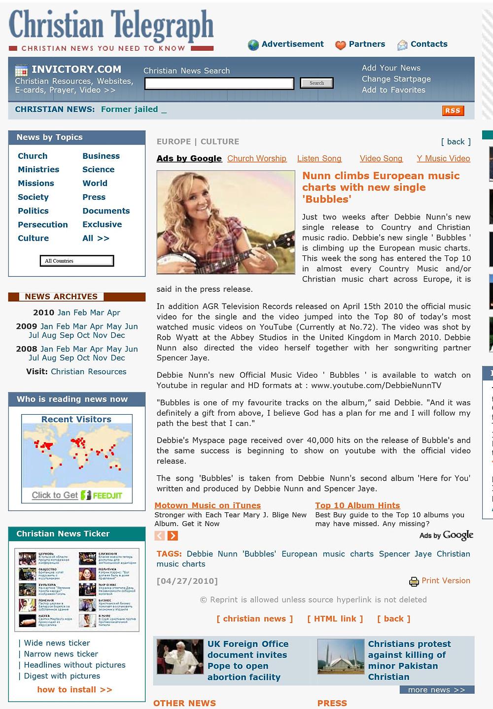 Christian Telegraph Debbie Nunn