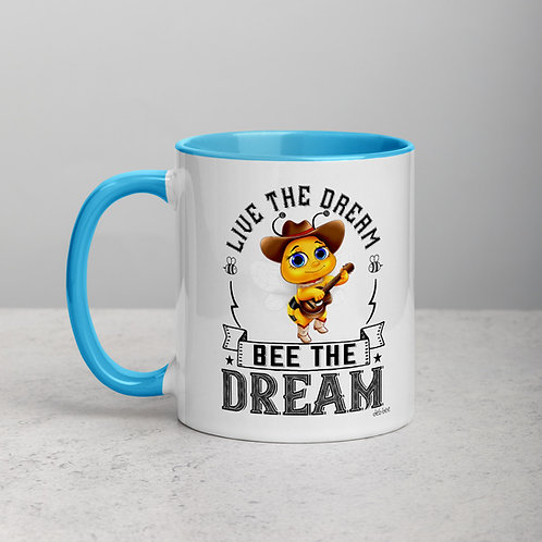 Live The Dream Bee The Dream Mug with Color Inside