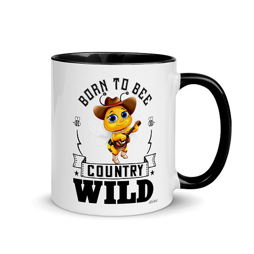 Born to Bee Country Wild Mug with Color Inside