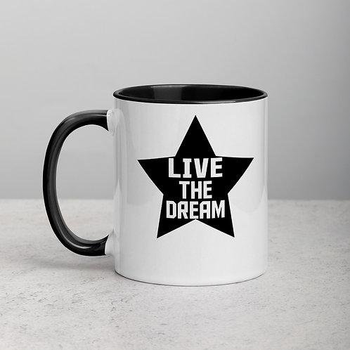 Live The Dream Mug with Color Inside