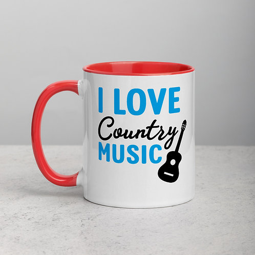 I Love Country Music Mug with Color Inside