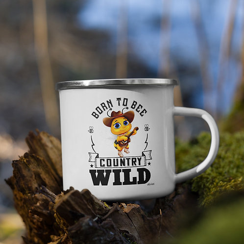 Born to Bee Country Wild Enamel Mug
