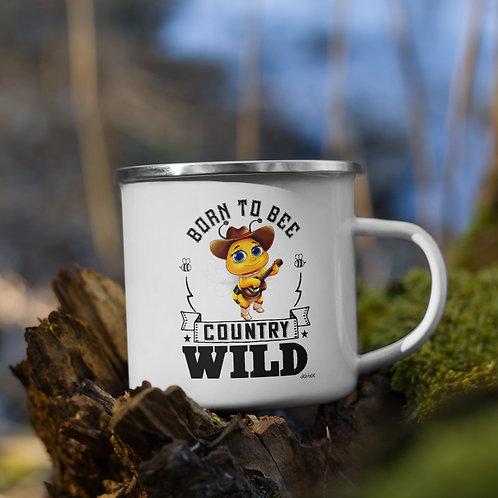 Born to Bee Country Wild Enamel Mug