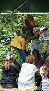 Gail Lyster teachs animal tracks at the Pend Oreille Water Festival