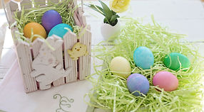 Oeufs de Pâques peint