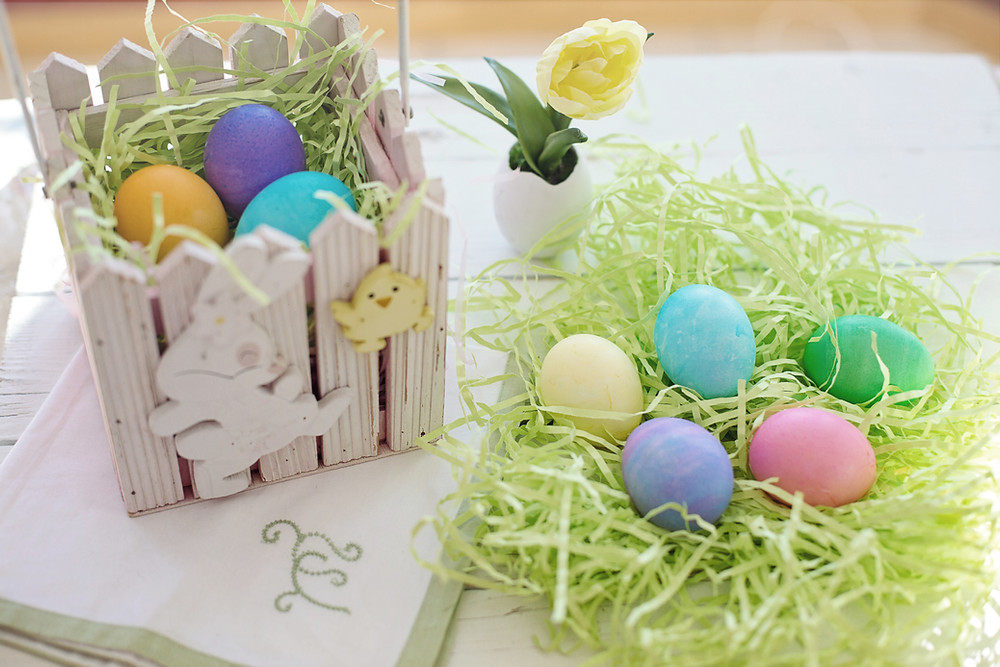 easter eggs grass spring colors easter brunch ideas
