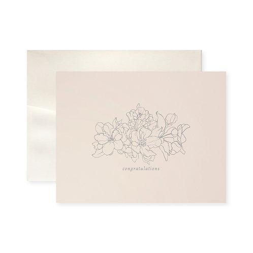 Congratulations Blossom Greeting Card