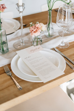 Simple Menu and Place Card