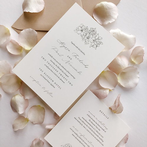 Apple Blossom Wedding Invitation Suite