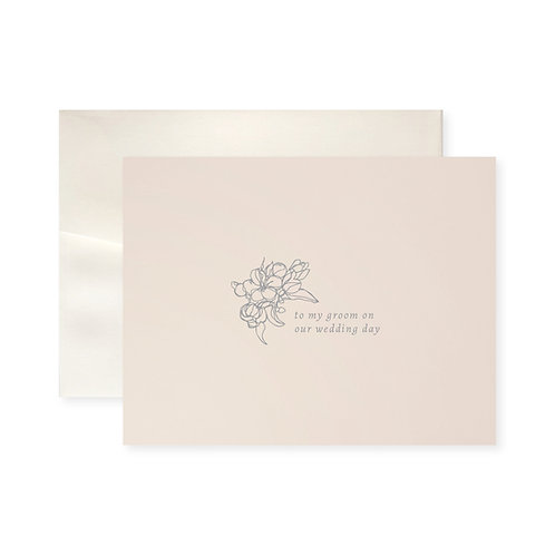 To My Groom Blossom Greeting Card