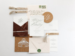 Boho Inspired Wedding Invitation