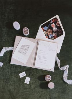 Fine Art Folio Wedding Invitation