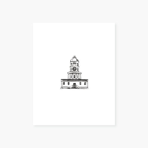 Halifax Clock Tower Art Print
